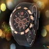fancy water resistant silicone wrist watch