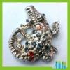 Lovely Rhinestone European Beads/Murano Crocodile Beads