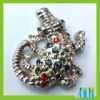 Lovely Rhinestone European Beads/Murano Crocodile Beads