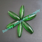 Green color coconut shape high transparency crystal loose beads