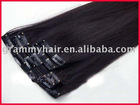 milky way hair products 16 inch black color clip in hair extensions human hair extension