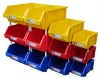 Virgin PP/PE Stackable Plastic Storage Box for Machine Parts