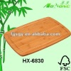 Eco-friendly Rectangle Bamboo Cutting Board with Groove