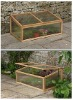 wooden frame mini flower house