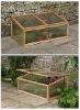 wooden frame mini flower house