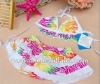 2012 Hot Sale Fashion Designer Baby Swimsuit With Cap bathing suit for baby bikini