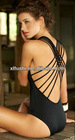 2013 Hot Sexy One Piece Black Swimwear Swimsuit