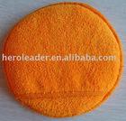 Microfiber Terry Cloth Car Wax Applicator with pocket