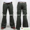 Pockets Khaki Gently Flared Leg Men Cargo Pants
