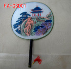 chinese traditional silk craft fan ,wooden ribs