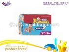 Ultra-thin, high absorbency, new type baby diaper