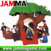 hot and funny outdoor playground home of tree