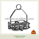 Black spice rack with handle