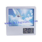LCD Clock Photo Frame W/penholder