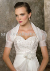 Short sleeve bridal wedding jacket SL-98