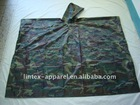 Camoufalge PVC poncho raincoat