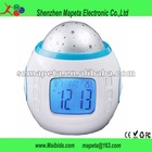 2012 Hot Sale! star projector alarm clock with music