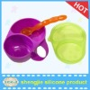 2012 Table Essential LFGB suitable camping silicone bowl