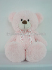 2012 Lovely Plush Stuffed Pink Bear With Tie Gummy Bear