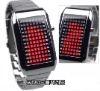 72 LED Red Light All Metal Lady's Wrist Watch