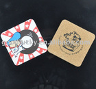 silk screen printing coaster/cork coaster(promotional gift)