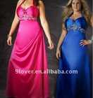 2012 fashion appliques under bust shining evening dress