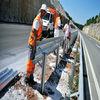 W-beam Galvanized Highway Guardrail, Steel Beam Crash Barriers