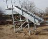 galvanized steel stair inclined platform ladder