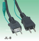 Japan style PSE grounding fish clip JL-8 electrical plug