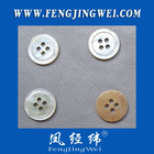 4-hole round edge white MOP shell button