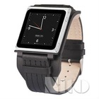 Genuine leather watch band for Nano 6 case