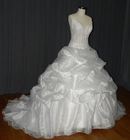 sexy fashion ruffle appliques wedding dress cls-011