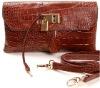 Luxury brand alligator leather wallet