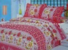 100%Polyester Brushed Pigment printed 4pcs bedding sets
