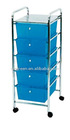 Five Tier Plastic Storage Cart (G-DC034)