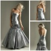 2013 Best Selling Long Mermaid Elegant Silver Formal Evening Dresses