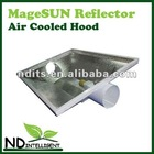 "6 Inch largest grow light hood Maximum air cooling with built-in 6"" fittings on both ends air cooled REFLECTOR"
