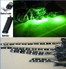 6pc green 5050 LED FLEXIBLE LED STRIP KIT MOTORCYCLE LIGHTS