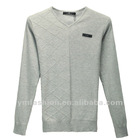 fashion v-neck knitted long sleeves mens sweater