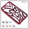 metal flower case for iphone 4