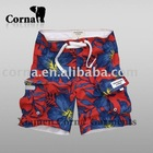 men casual printed microfiber beach shorts