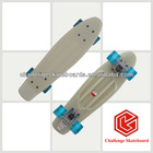 Chinese top white mini plastic skate board