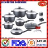 Aluminum Die-casting Non stick Cookware Set|induction bottom|ceramic coating|marble coating|Saucepan|Soup Pot|Double pan|Roaster