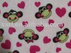 Printed coral fleece knitted fabrics