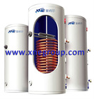 Double copper coil solar water storage tank