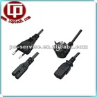European standard laptop ac power cords /European power extension cord