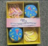 Promotional cupcake kit cups + picks in gift box