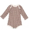 2012 Cotton baby long sleeve rompers ,lattic Infant clothing