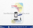 Micro Sim Adapter w/ Dust Plug for Iphone 4G / iPod