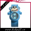 2013 cheap fashion cute Monkey shaped silicone slap watch for kids